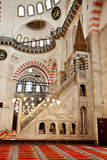 Suleymaniye Mosque in Istanbul Turkey - interior - pulpit Stock Photography