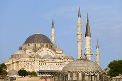 Suleymaniye Mosque in Istanbul. Turkey, Ottoman imperial mosque, historic city landmark from 16th century Stock Images