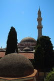 Suleymaniye Mosque or Mosque of Suleiman in Rhodes, Greece Royalty Free Stock Photography