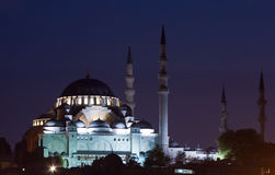 Suleymaniye Mosque at night Royalty Free Stock Photos