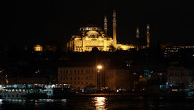Suleymaniye Mosque at night. Stock Image