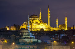 Suleymaniye Mosque night view, Istanbul, Turkey Royalty Free Stock Photos