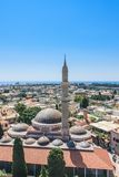 Suleymaniye Mosque. Old Town. Rhodes. Greece Royalty Free Stock Images