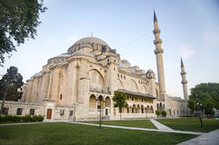 Suleymaniye Mosque. The Suleymaniye Mosque is an Ottoman imperial mosque located on the Third Hill of Istanbul, Turkey. It is the largest mosque in the city, and Royalty Free Stock Photography