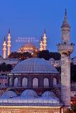 Suleymaniye mosque ramadan mahya Royalty Free Stock Photos