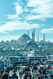 Suleymaniye Mosque - Suleymanice Camii Istanbul. Suleymaniye Mosque from Eminonu Istanbul Stock Photos