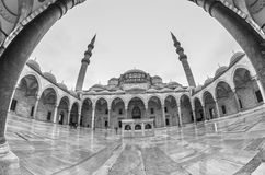 Suleymaniye Mosque - Suleymanice Camii Istanbul. Suleymaniye Mosque Istanbul , Fisheye Lens Royalty Free Stock Image