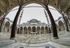 Suleymaniye Mosque - Suleymanice Camii Istanbul. Suleymaniye Mosque Istanbul , Fisheye Lens Stock Photos