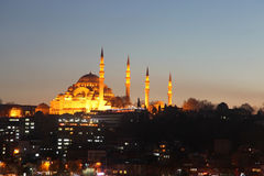 Suleymaniye Mosque (Suleymaniye Cami) Royalty Free Stock Photo