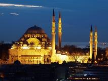 Suleymaniye Mosque (Suleymaniye Camii)-  ottoman imperial mosque located on the Third Hill of Istanbul, Turkey Stock Photo