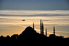 Suleymaniye Mosque at sunset , istanbul royalty free stock photography