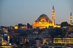 The Suleymaniye Mosque on sunset Royalty Free Stock Images