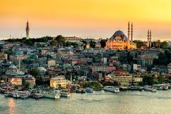 Suleymaniye mosque view Royalty Free Stock Image