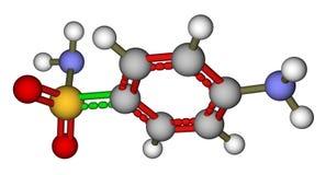 Sulfanilamide molecular model Royalty Free Stock Photography