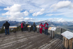 Sulfer Mountain Observation Decks Royalty Free Stock Images