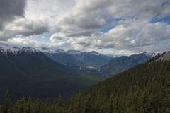 Sulfer Mountain Views. The Observation tower at Sulfer Mountain, just above Banff, Banff National Park, Alberta, Canada provides views of the surrounding Royalty Free Stock Image