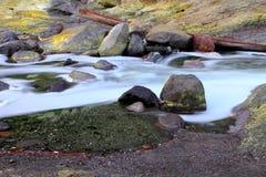 Sulfide waterfall at kawa ijen  Indonesia Royalty Free Stock Images