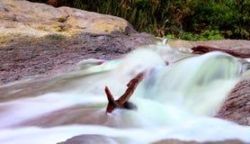 Sulfide waterfall at kawa ijen  Indonesia Stock Photos