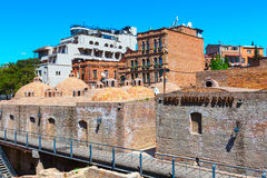 Sulfur Baths and houses of Old Town of Tbilisi, Republic of Georgia Stock Image