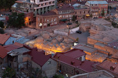 Sulfur baths in Tbilisi. Ancient sulfur baths Old Town of Tbilisi, Republic of Georgia stock image