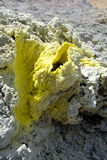 Sulfur crystals stock images