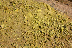 Sulfur deposited by a fumarole in Iceland Royalty Free Stock Photo