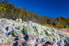 Sulfur deposits Royalty Free Stock Images