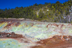 Sulfur deposits Stock Photo