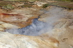 Sulfur desert steam no 2 Stock Images