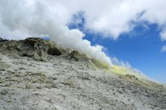 Free Sulfur Dioxide Volcanic Gas Eruption On Damavand Stock Photos - 160632753