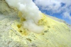 Free Sulfur Dioxide Volcanic Gas Eruption On Damavand Royalty Free Stock Images - 160632839