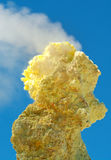 Sulfur of Ebeko  Volcano, Paramushir Island, Kuril Islands, Russ Stock Images