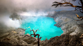 Free Sulfur Fumes From The Crater Of Kawah Ijen Volcano. Stock Photography - 93340322