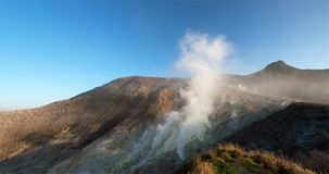 Active Volcano, Sulfr Gas, Vent. A sulfur gas vent spews gases and toxic gas at an active volcano royalty free stock photos