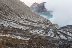 Sulfur gases on Ijen volcano. In Java, Indonesia Stock Images