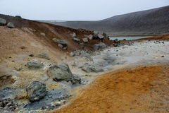 Sulfur ground, Iceland Royalty Free Stock Photo