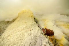 Sulfur at Kawah Ijen Royalty Free Stock Photos