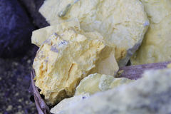 Sulfur lump Royalty Free Stock Image