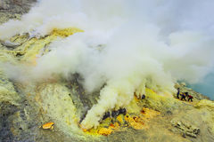 Sulfur mine Stock Photography