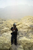 Sulfur mine Royalty Free Stock Image