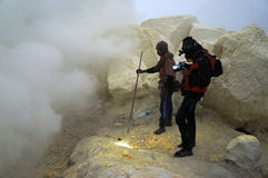 Sulfur mine Stock Photos