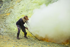 Sulfur miner Royalty Free Stock Photography