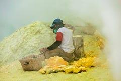 Sulfur miner Stock Image