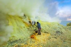 Sulfur miner Royalty Free Stock Photo