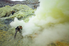 Sulfur miner Royalty Free Stock Images