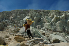 Sulfur mining Royalty Free Stock Photography