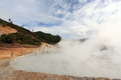 Sulfur Mud Volcano Indonesia Royalty Free Stock Images