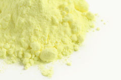 Sulfur powder Royalty Free Stock Images