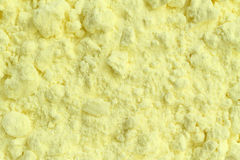 Sulfur powder texture Stock Image