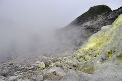 Sulfur in Sibayak volcano Royalty Free Stock Photography